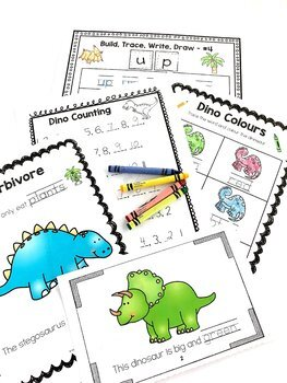 Kindergarten Dinosaur Unit, Math, Literacy
