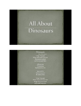 All About Dinosaurs PowerPoint slide show