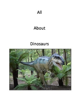 All About Dinosaurs Writing