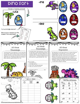 All About Dinosaurs a Mini Research Unit