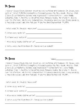 All About Dr. Seuss WWWWW