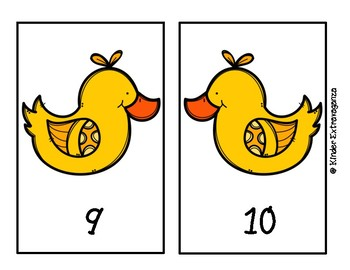 All About Ducks Counting Mats