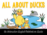 All About Ducks Interactive Digital Notebook {PRINT & DIGITAL}