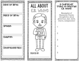 All About E.B. White - Biography Research Project - Interactive Notebook