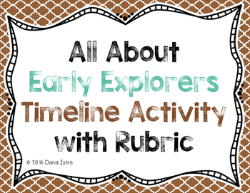 All About Early Explorers Timeline Activity