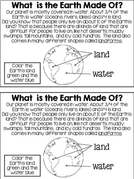 All About Earth NGSS mini-book