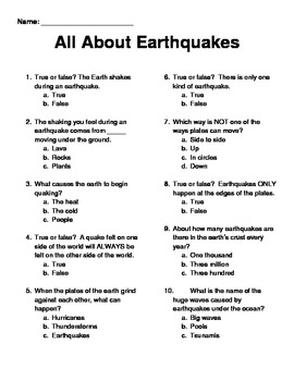 All About Earthquakes