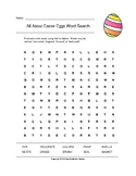 All About Easter Eggs Word Search with Answer Key