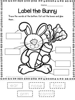 All About Easter - Print and Go - Math & Literacy - No Prep