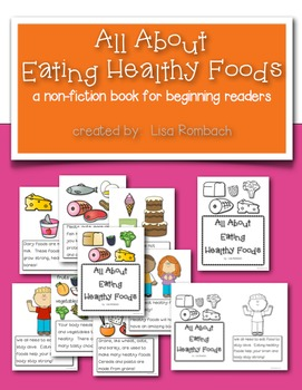 All About Eating Healthy Foods non fiction book for beginning readers