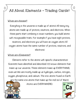 All About Elements - The Periodic Table of Elements - Trading Cards