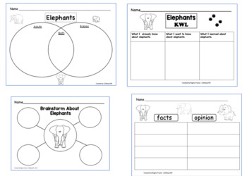 All about elephants writing prompts graphic organizers diagram by all about elephants writing prompts graphic organizers diagram ccuart Images