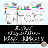 All About Eligibilities Handouts for Parents