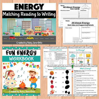 Forms of Energy Worksheets, Activities, Posters, and Lapbook