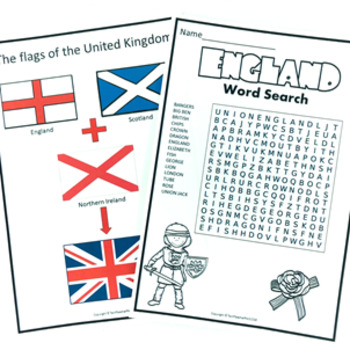 England Geography Maps Activities