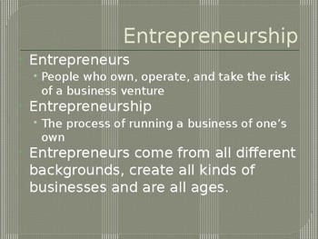 All About Entrepreneurship - Entrepreneurship Ch. 1.1 - 1.2