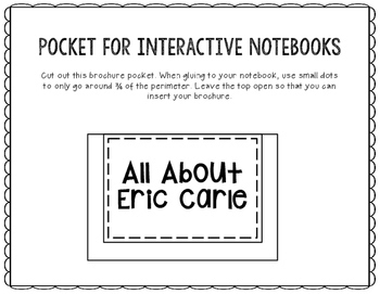 All About Eric Carle - Biography Research Project - Interactive Notebook