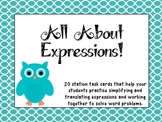 Freebie All About Expressions Task Cards