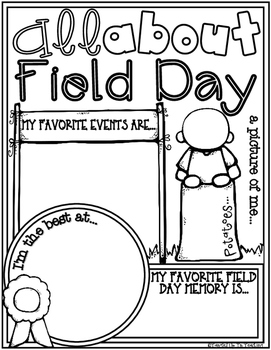 All About FIELD DAY Poster Activity (Fill In Poster for the End of the Year)