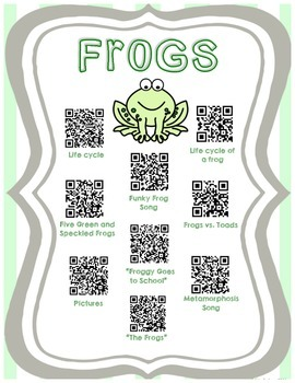 All About FROGS with QR Codes