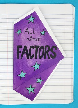 Doodle - All About Factors Interactive Notebook Foldable