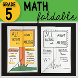 Math Doodle -All About Factors and Multiples ~ Foldable Notes ~