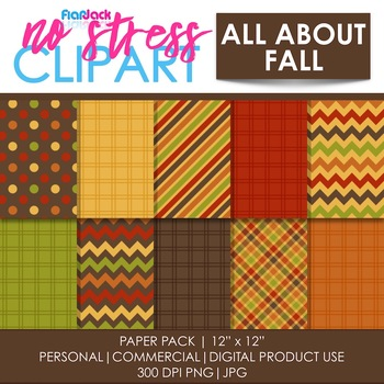 All About Fall Digital Papers