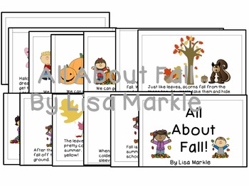 All About Fall Emergent Reader for Preschool and Kindergarten