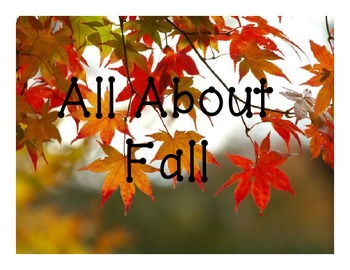 All About Fall Vocabulary
