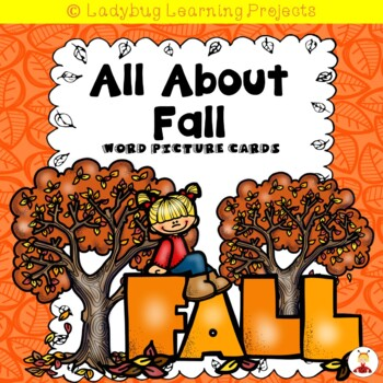 All About Fall Vocabulary Picture Word Cards for Kindergarten Mega Bundle