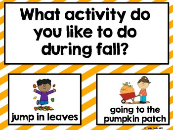 All About Fall Weekly Themed Question of the Day