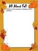 All About Fall Writing Activity