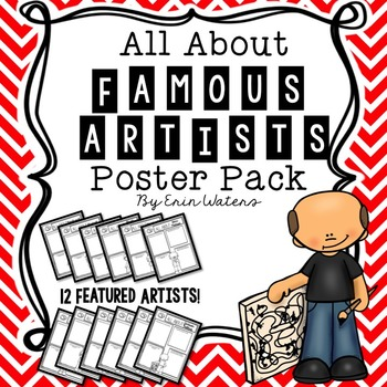 All About Famous Artists Poster Pack {12 Artists Featured}
