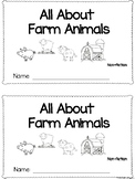All About Farm Animals Emergent Reader *Non-fiction