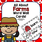 All About Farms Word Wall Picture Cards