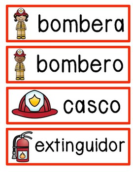 All About Firefighters in Spanish