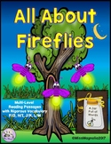 All About Fireflies Multi-Level Reading Passages