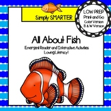 All About Fish Emergent Reader Book AND Interactive Activities