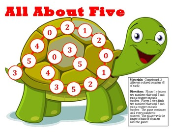 All About Five - A 2-Player Game to Practice Sums to 5