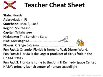 All About Florida | US States | Activities & Worksheets