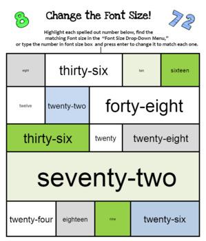 All About Fonts--Skills Bundle for Computer  (Grades K-3)