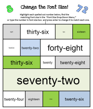 All About Fonts--Skills Bundle for Computer  for use in GOOGLE Docs or MS Word!