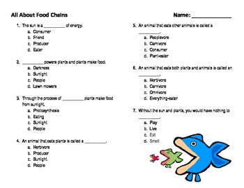 All About Food Chains