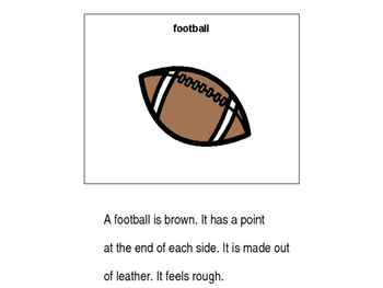 All About Football PECS Book