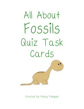 All About Fossils Quiz Task Cards (Utah Core 4th grade)