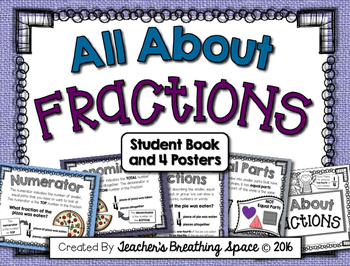 All About Fractions --- Fractions Book and Fractions Posters