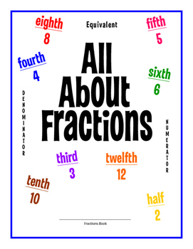All About Fractions Math Book! Help students visualize and understand fractions!