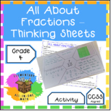 All About Fractions - Thinking Activity (4.NF.5)