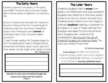 All About Frederick Douglass  An Informational Text Interactive Reader