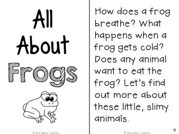 All About Frogs Informational Text Unit for Grades k-3 and Close Read